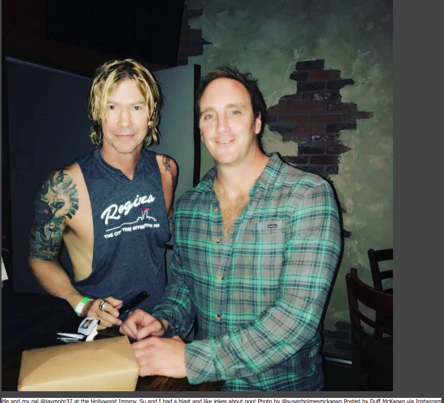 Guns N Roses Bassist Duff Mckagan Hangs Out With Comedian Jay Mohr