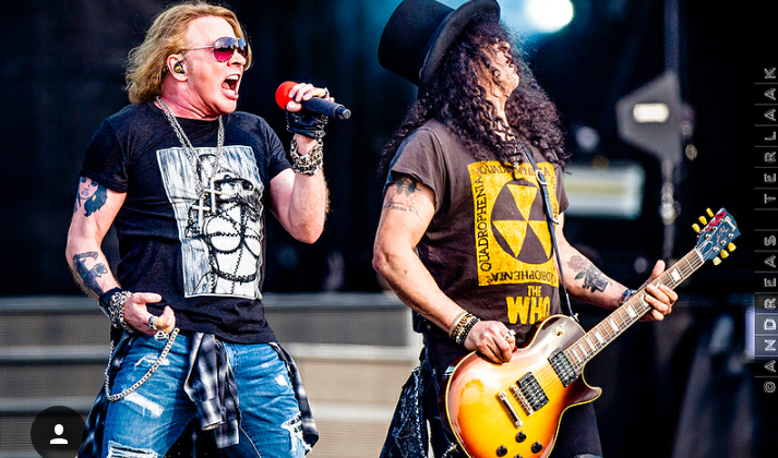 Guns N' Roses Currently Have 4 Songs on the Billboard Rock Songs