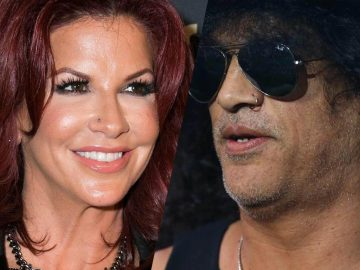 Perla Ferrar and Slash