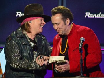 Axl Rose and Nicolas Cage