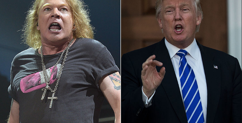 Axl Rose and Donald Trump