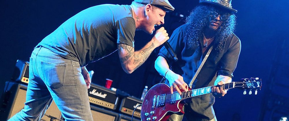 Slash and Corey Taylor